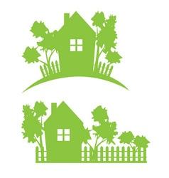garden house vector image
