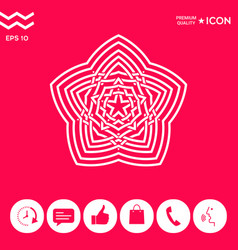 geometric oriental arabic pattern element for vector image