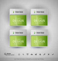 Glossy business stickers design elements for vector