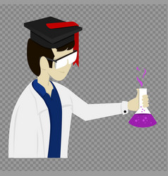 Graphic scientist png vector