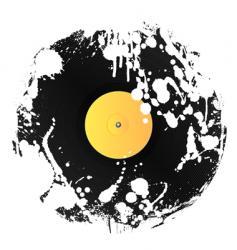 grunge vinyl disc vector image
