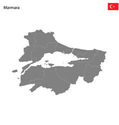 High quality map marmara region turkey with vector