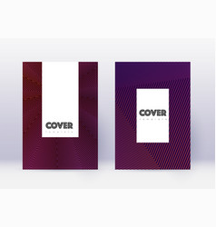 Hipster cover design template set violet abstract vector