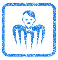 Hitler croupier monster framed grunge icon vector