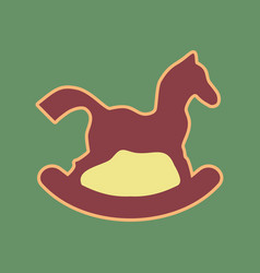 Horse toy sign cordovan icon and mellow vector