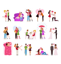 hugging couple in love llifestyle happy vector image