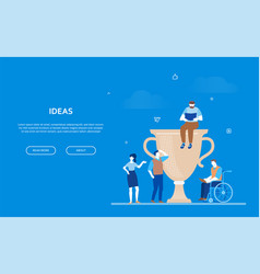 ideas - flat design style colorful web banner vector image
