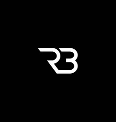 Initials r and b logo is simple and modern vector