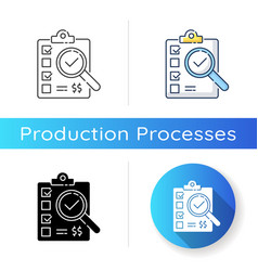 Inspection icon vector