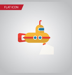 Isolated submarine flat icon periscope vector