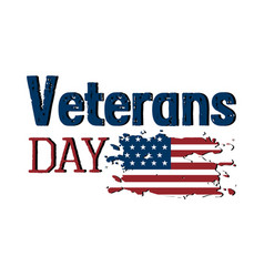 isolated veteran day label vector image