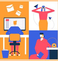 job search - flat design style colorful vector image