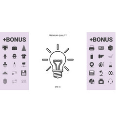 light bulb - new ideas line icon - graphic vector image