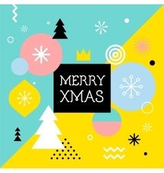 Merry Christmas geometric scandinavian style vector