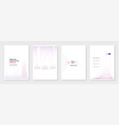 minimal brochure templates infographic elements vector image