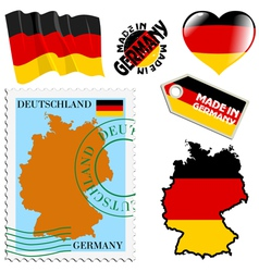 national colours of Germany vector image