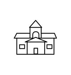 Old school icon vector