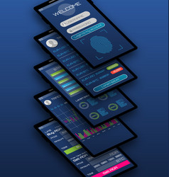 online statistics and data analytics mobile vector image
