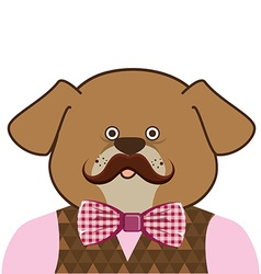 pet hipster style vector image