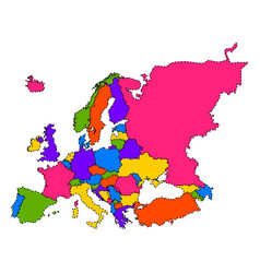 Political map of europe vector