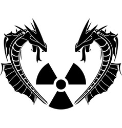 radiation reptiles vector image