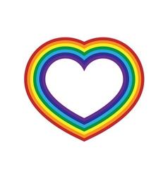 Rainbow icon heart flat design vector image