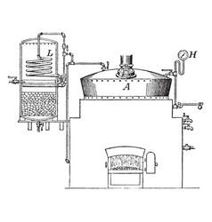 Rendering tank vintage vector