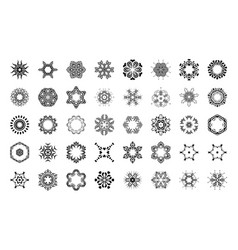 round ornament pattern isolated mandalas vector image