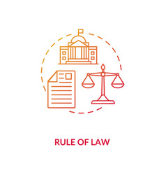 Rule law concept icon vector