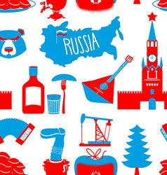 Russian symbols seamless pattern Russia national vector image