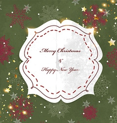 Rustic Christmas Background vector image
