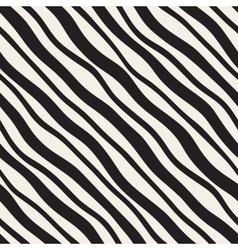 Seamless Diagonal Wavy Lines Pattern vector image