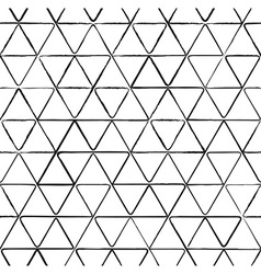 Seamless pattern with ink triangles drawing vector image