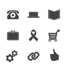 set e-commerce icons vector image