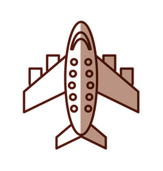 Shadow airplane cartoon vector