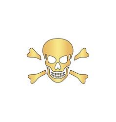Skull computer symbol vector image
