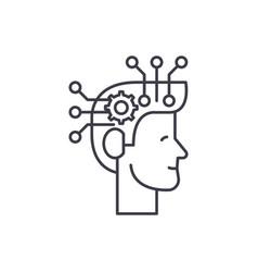 strategic thinking line icon concept strategic vector image