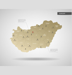 stylized hungary map vector image