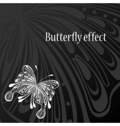 Text frame with abstract butterfly vector image