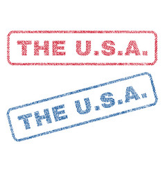 the usa textile stamps vector image