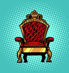 throne symbol of royal power vector image
