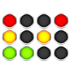 traffic control lights isolated on white vector image