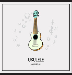 ukulele isolated icon vector image