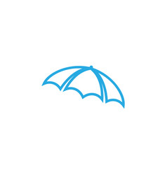 Umbrella graphic design template isolated vector