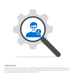 user info icon search glass with gear symbol icon vector image