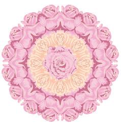 Vintage roses ornament vector