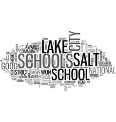 where are the good schools text word cloud concept vector image