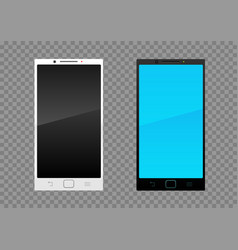 White black smartphone vector