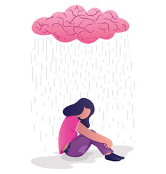 Woman in depression vector