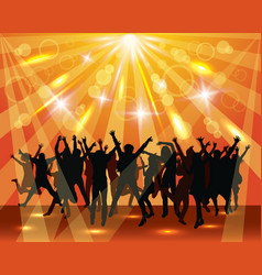 Young dancing people on the party vector image